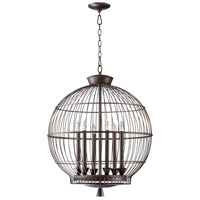 Hendricks Birdcage 6 Light 23 inch Oiled Bronze Pendant Ceiling Light
