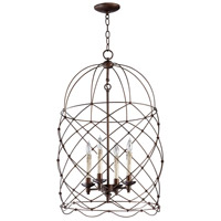 Adele 4 Light 18 inch Oiled Bronze Foyer Pendant Ceiling Light