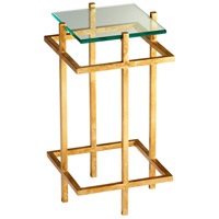 Gallery 14 X 14 inch Gold Leaf End Table Home Decor
