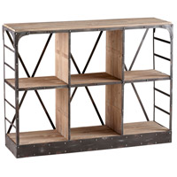 Newberg Raw Iron and Natural Wood Storage Console