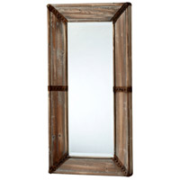 Williams 39 X 20 inch Raw Iron and Natural Wood Mirror Home Decor