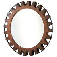 Landry Raw Iron and Natural Wood Mirror Home Decor