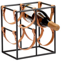 Cyan Design 04913 Brighton Raw Steel Wine Holder, Small