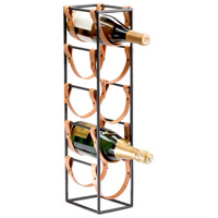 Cyan Design 04914 Brighton Raw Steel Wine Holder, Medium