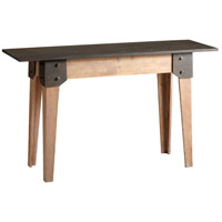 Mesa 59 X 20 inch Raw Iron and Natural Wood Table Home Decor