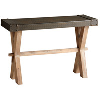 Mesa 47 X 18 inch Raw Iron and Natural Wood Console Home Decor