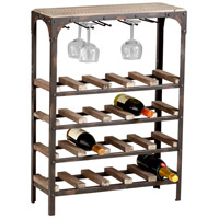 Cyan Design 04978 Gallatin Raw Iron and Natural Wood Wine Rack
