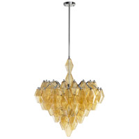 Boho 6 Light 28 inch Chrome Pendant Ceiling Light, Large