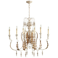 Motivo 8 Light 36 inch Persian White Chandelier Ceiling Light