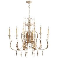 Cyan Design 05051 Motivo 8 Light 36 inch Persian White Chandelier Ceiling Light