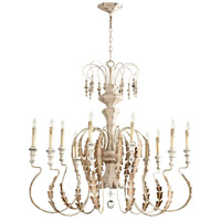 Cyan Design 05052 Motivo 10 Light 43 inch Persian White Chandelier Ceiling Light