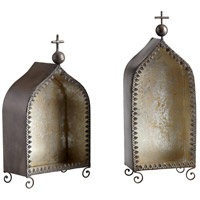 Lourdes Rustic Wall Accent, Stout