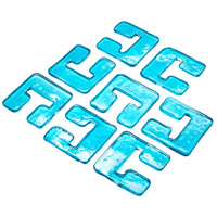 Cyan Design 05121 Havilland Blue Glass Links For 04981