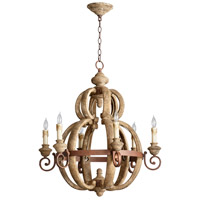 Atocha 6 Light 27 inch Sutherland Buff and Rust Finish Chandelier Ceiling Light