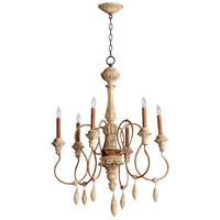 Cyan Design 05176 Alda 6 Light 28 inch Sutherland Buff Chandelier Ceiling Light