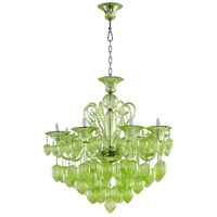 Chrome Murano Style Glass Chandeliers