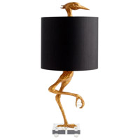 Ibis 35 inch 100 watt Ancient Gold Table Lamp Portable Light