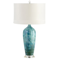 Cyan Design 05212 Elysia 29 inch 100 watt Blue Glaze Table Lamp Portable Light