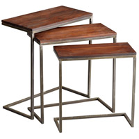Jules 28 X 14 inch Walnut and Graphite Nesting Table Home Decor