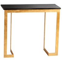 Dante 38 X 14 inch Gold and Black Console Table