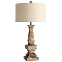 Tashi 33 inch 100 watt Limed Gracewood Table Lamp Portable Light