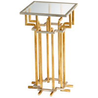 Slater 14 X 14 inch Gold Leaf Side Table Home Decor
