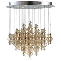 Bubbles Cash 6 Light 35 inch Chrome Pendant Ceiling Light, Large