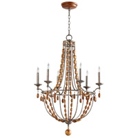 Middleton 6 Light 28 inch Canyon Bronze Chandelier Ceiling Light