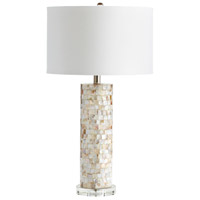 West Palm 29 inch 100 watt Mother Of Pearl Table Lamp Portable Light