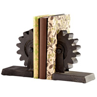 Gear 5 X 4 inch Raw Steel Bookends