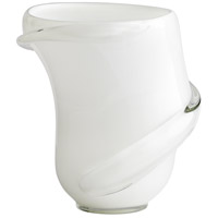 Donatella White and Clear Vase