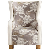 JP Buttercup Grey and Patterned Fabric Chair