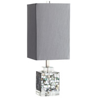 Johor 25 inch 100 watt Grey Table Lamp Portable Light