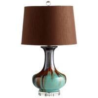 Cyan Design 05575-1 Hyde 14 watt Blue and Cyan Table Lamp Portable Light