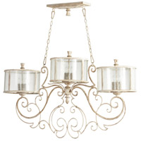 Cyan Design 05782 Florine Nine 9 Light 52 inch Persian White And Mystic Silver Island Light Ceiling Light