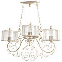 Cyan Design 05782 Florine 9 Light 52 inch Persian White and Mystic Silver Island Light Ceiling Light