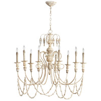 Florine 9 Light 39 inch Persian White and Mystic Silver Chandelier Ceiling Light
