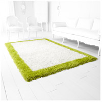 Cyan Design 05791 Kendal 91 X 60 inch White and Lime Green Rug