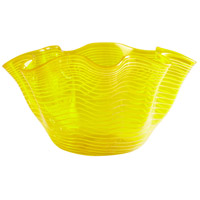 Yellow Scallop 9 inch Bowl