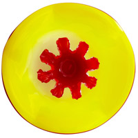 Splash Yellow and Red Plate