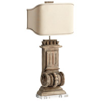 Loft 37 inch 60 watt Limed Gracewood Table Lamp Portable Light