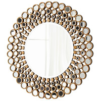 Full Circle Walnut and Mirrored Glass Mirror Home Decor