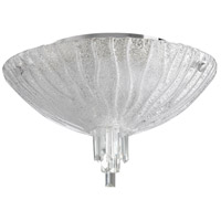 Frosted Glow 4 Light 18 inch Chrome Flush Mount Ceiling Light