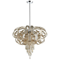 Cindy Lou Who 10 Light 27 inch Chrome Chandelier Ceiling Light, Large