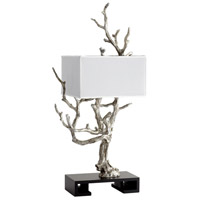 Silver and White Table Lamps