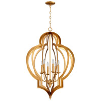 Cyan Design 05974 Vertigo 6 Light 24 inch Gold Leaf Chandelier Ceiling Light, Large