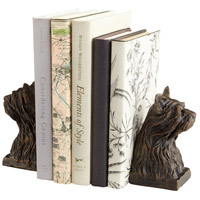 Westie 3 X 3 inch Bronze Bookends
