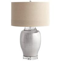 Cyan Design 06316 Radiance 30 inch 100 watt Satin Chrome Table Lamp Portable Light