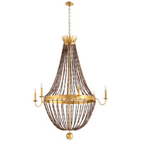Cyan Design 06338 Alessia 6 Light 44 inch Gold Leaf Chandelier Ceiling Light