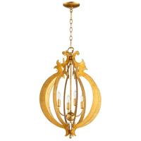 Cyan Design 06495 Danelle 4 Light 18 inch Gold Leaf Pendant Ceiling Light